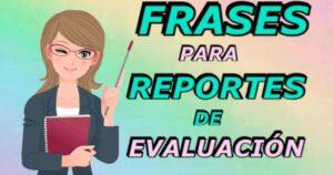 Frases de observación evaluaciones